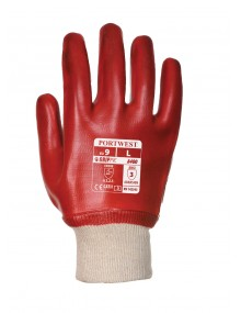 Portwest A400 Knitwrist PVC Gloves